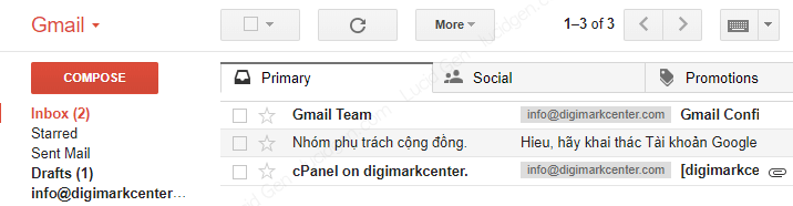 Gmail results have automatically taken all domain email messages