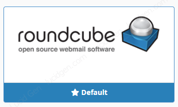 Select Roundcube as default