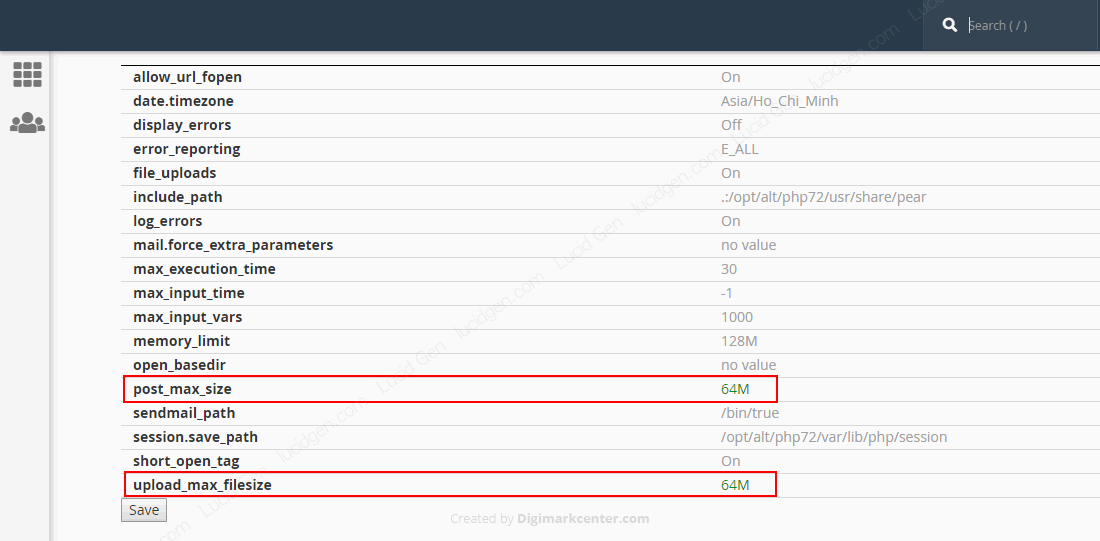 How to fix The link you followed has expired WordPress - Find the lines post_max_size and upload_max_filesize and edit