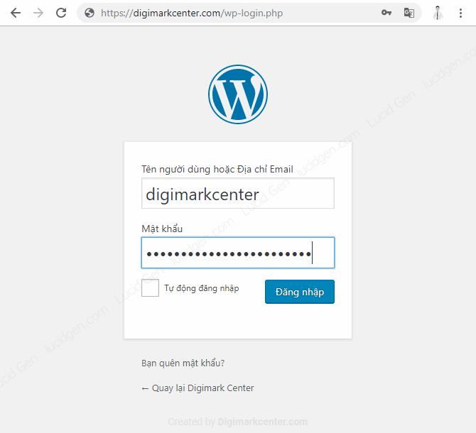 Đăng nhập quản trị viên website