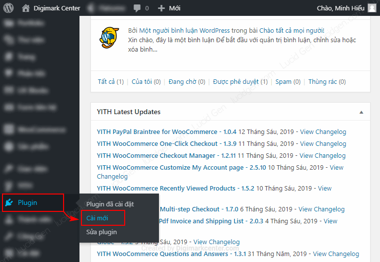 You click Plugin and choose New settings.