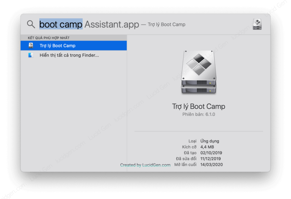 Install Win 10 for Macbook Pro and Air. Click Command + Space on the keyboard and find the Boot Camp app