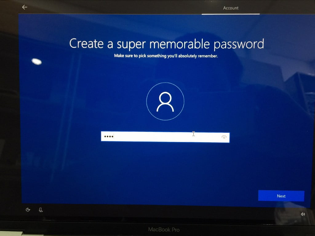Fill in a sign-in password