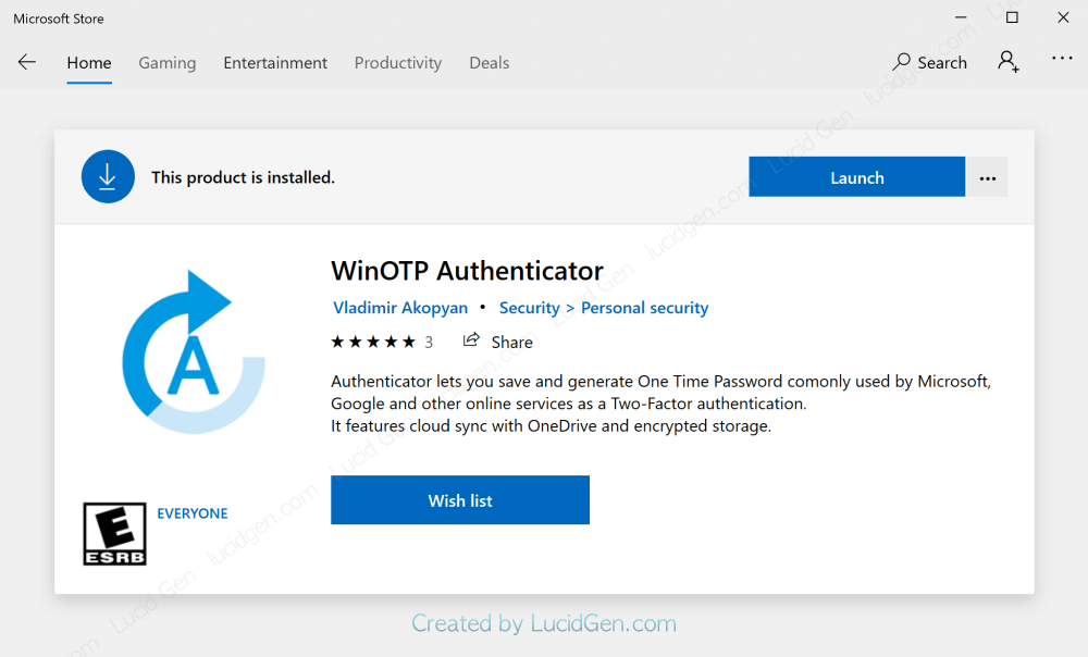 Install the WinOTP Authenticator app on a Windows computer