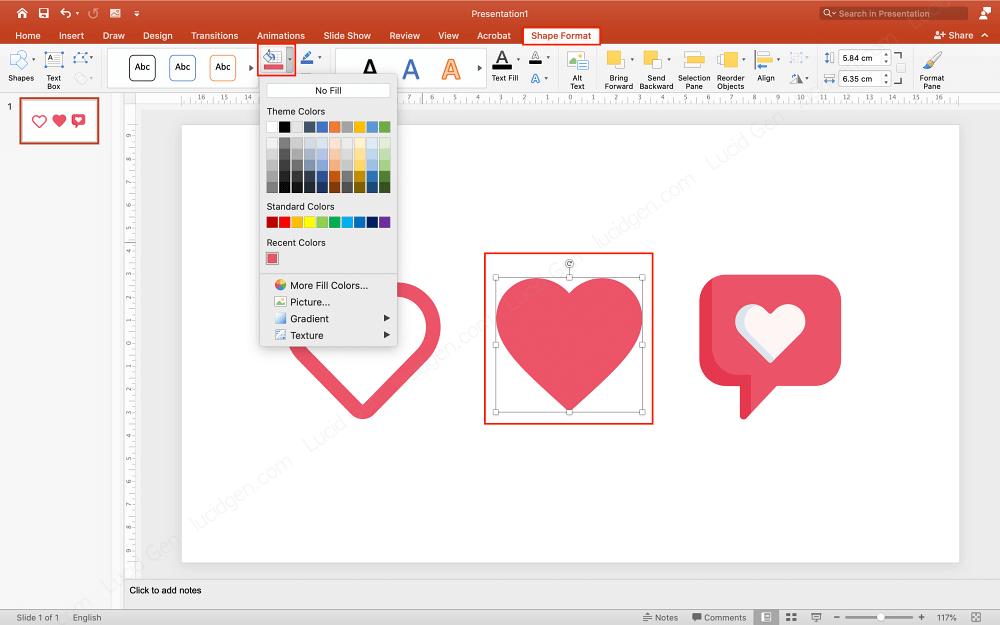 Co giãn kích cỡ và đổi màu cho icon