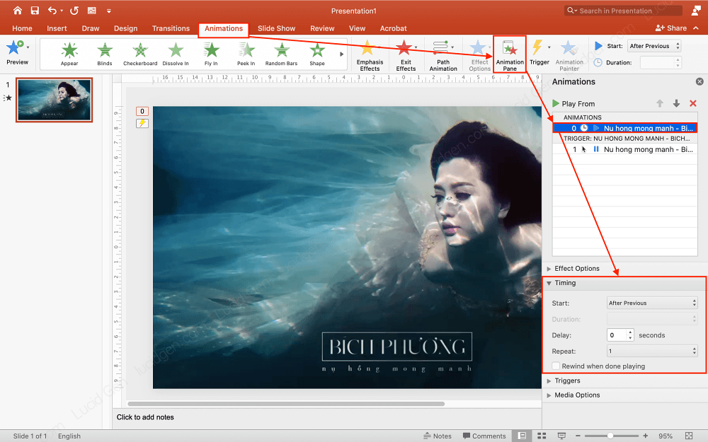 Adjust the way to start playing for videos inserted in PowerPoint