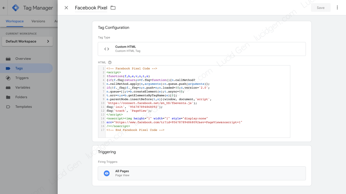 Add Pixel to website before setting up Contact Form 7 conversion for Facebook Ads